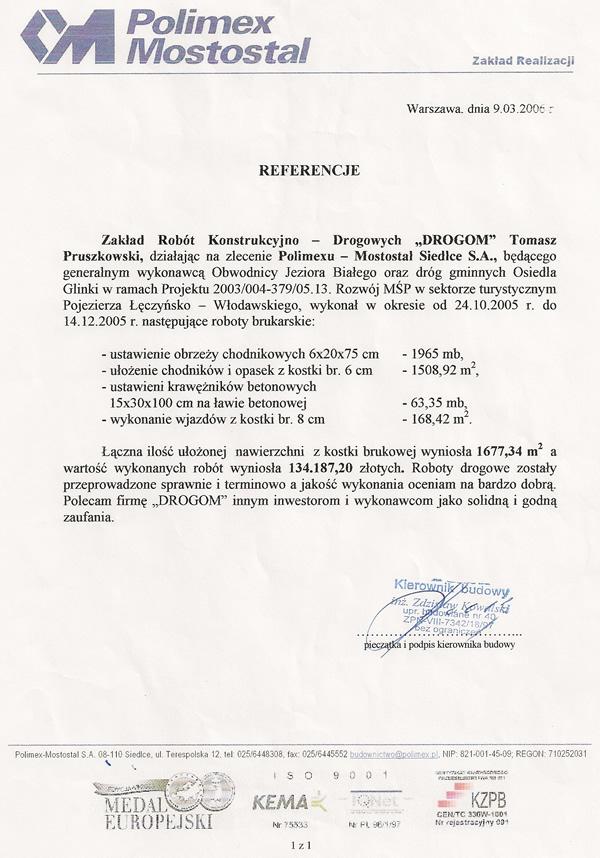 Obwodnica Jeziora Białego, woj. lubelskie.