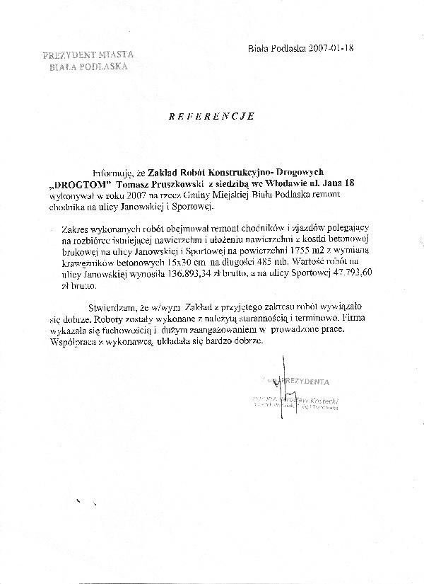 Modernizacja ul. Sportowej