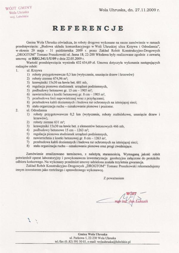 Budowa układu komunikacyjnego -                   ul. Odrodzenia